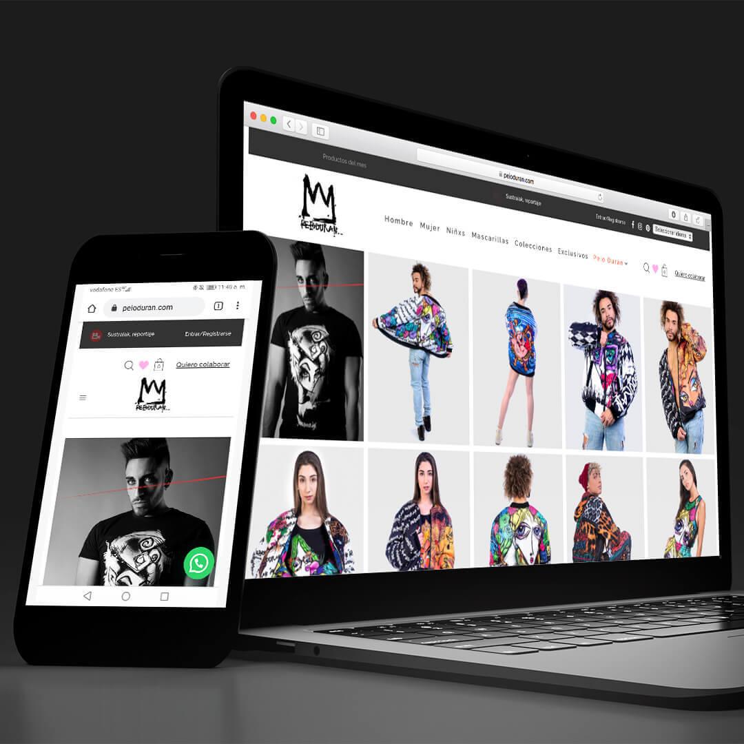 Proyectos Bobysuh: tienda online Peio Durán